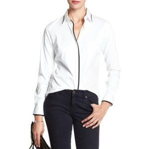 Banana Republic Fitted Cotton Button Down Blouse